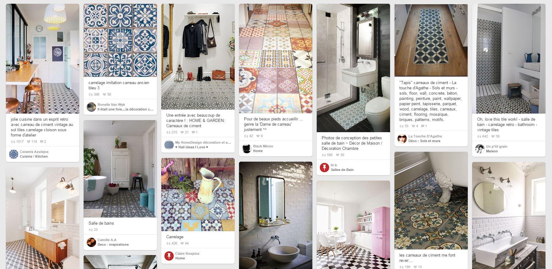 Tapis Imitation Carreaux De Ciment Vinyle tapis floorart | enredada