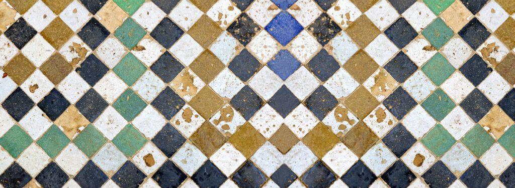 Tapis Square Tiles - Noir et blanc