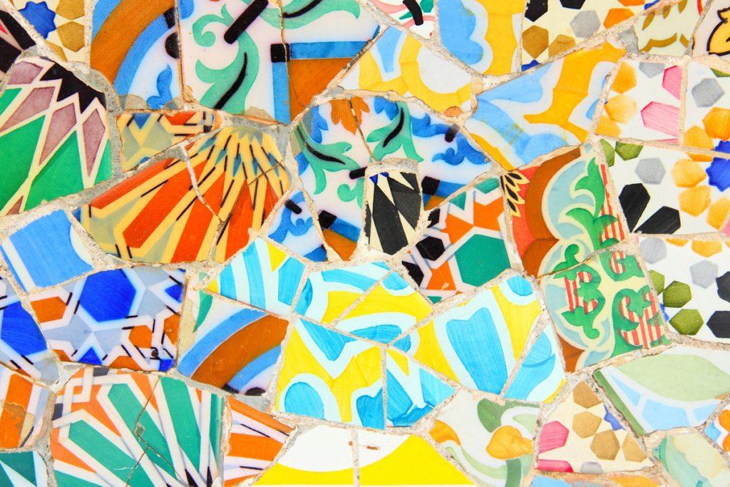 Tapis Trencadis Gaudi - Multicolore