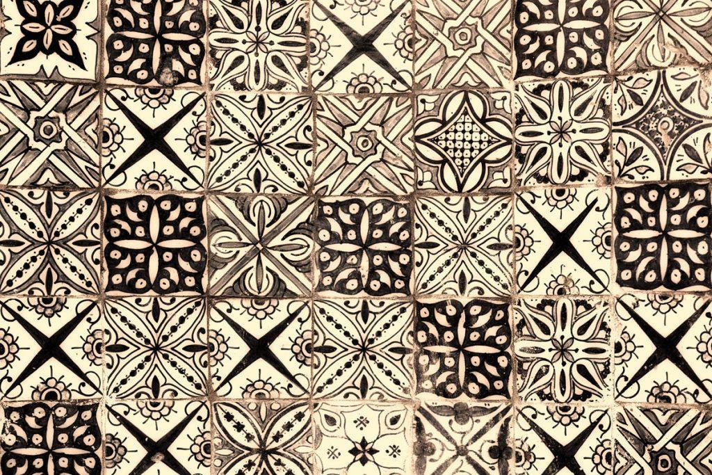 Tapis Yaminah - Noir et blanc cassé