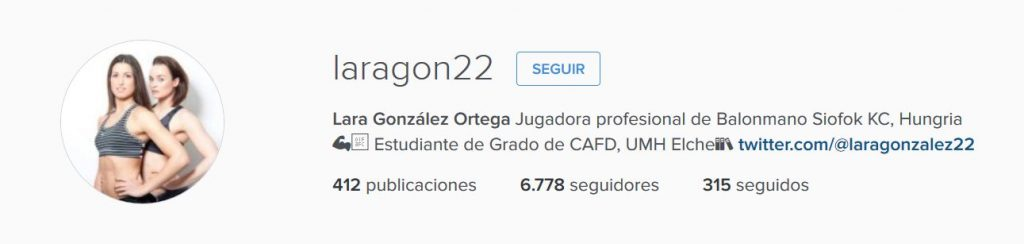 Instagram Lara González