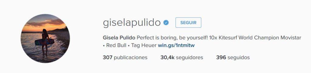 Instagram Gisela Pulido