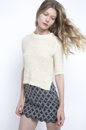 DITA Mini Skirt - RISK Sweater - deby debo