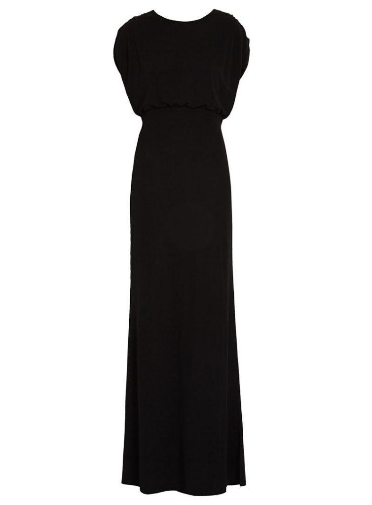 Robe longue noire Morgan