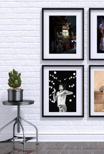 d co 5 id es pour agencer vos photos au mur. Black Bedroom Furniture Sets. Home Design Ideas