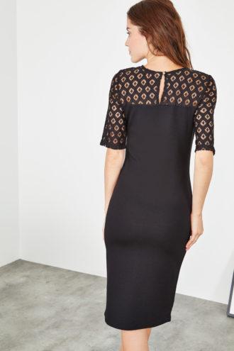 robe en dentelle noir collectionIRL - dos
