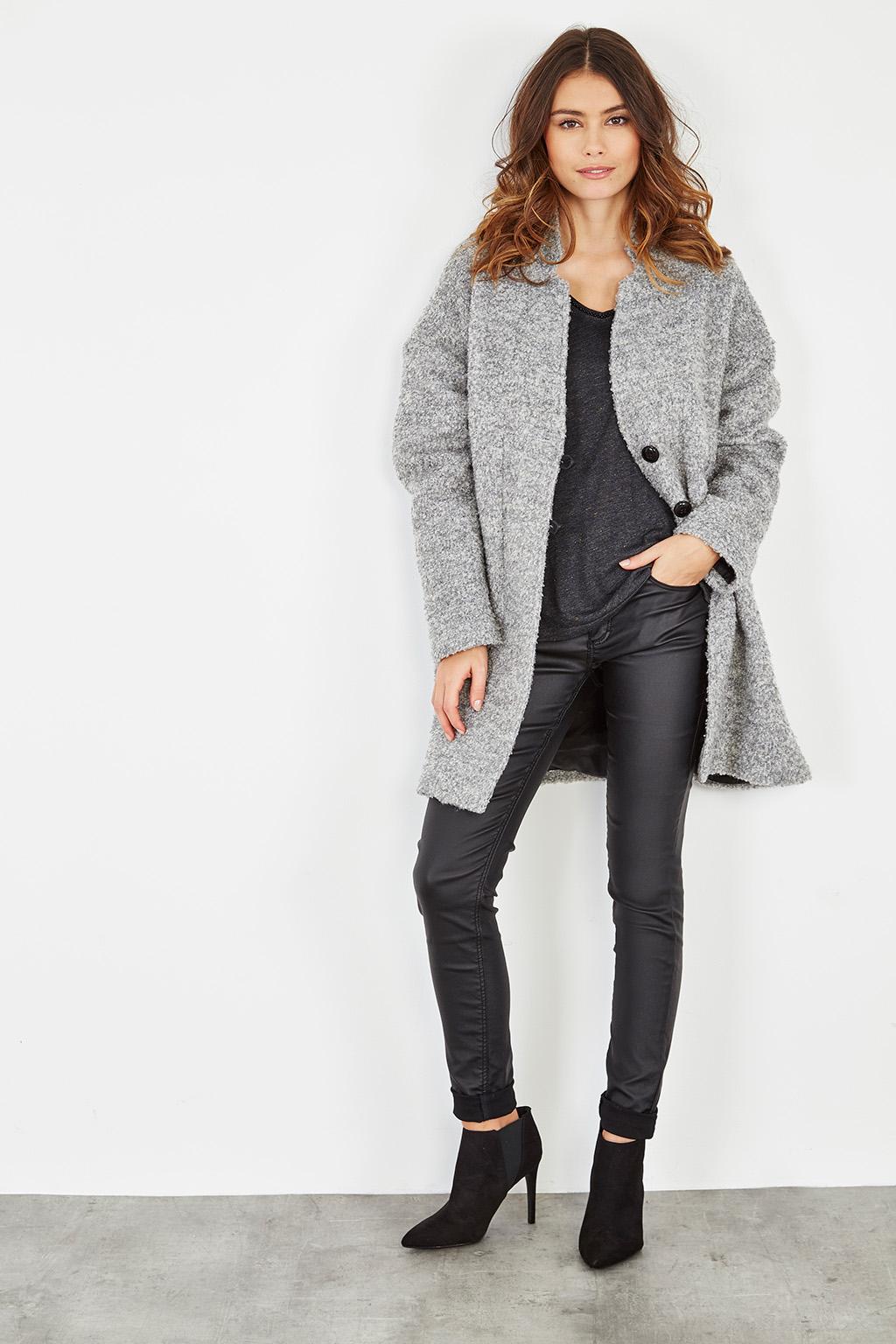 Manteau IRL oversize gris - look