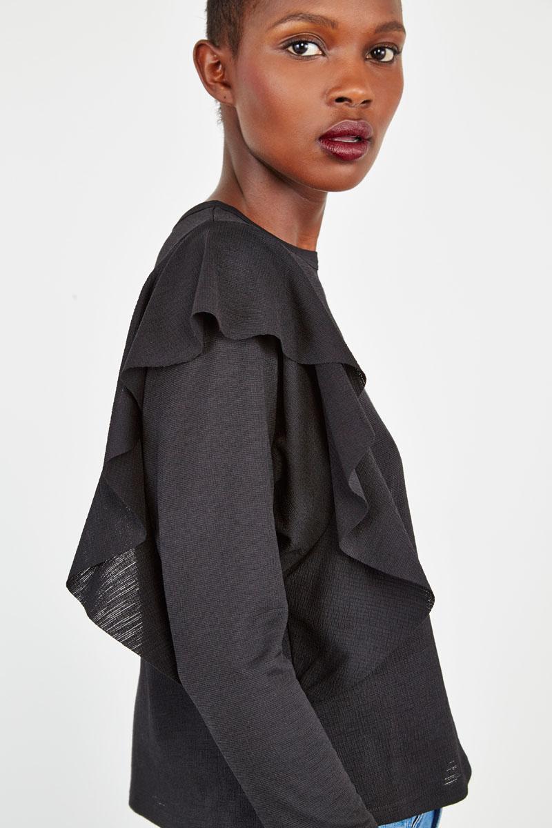#collectionIRL - top noir évasé