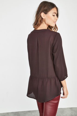 Blouse basque prune dos