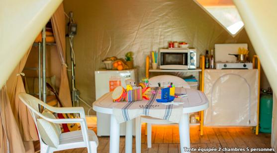 Espagne - tente cuisine - Castell mar - Tohapi