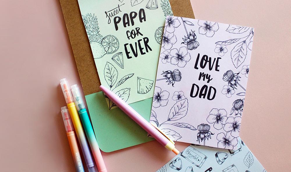 DÉCO | Fête des pères : téléchargez votre carte