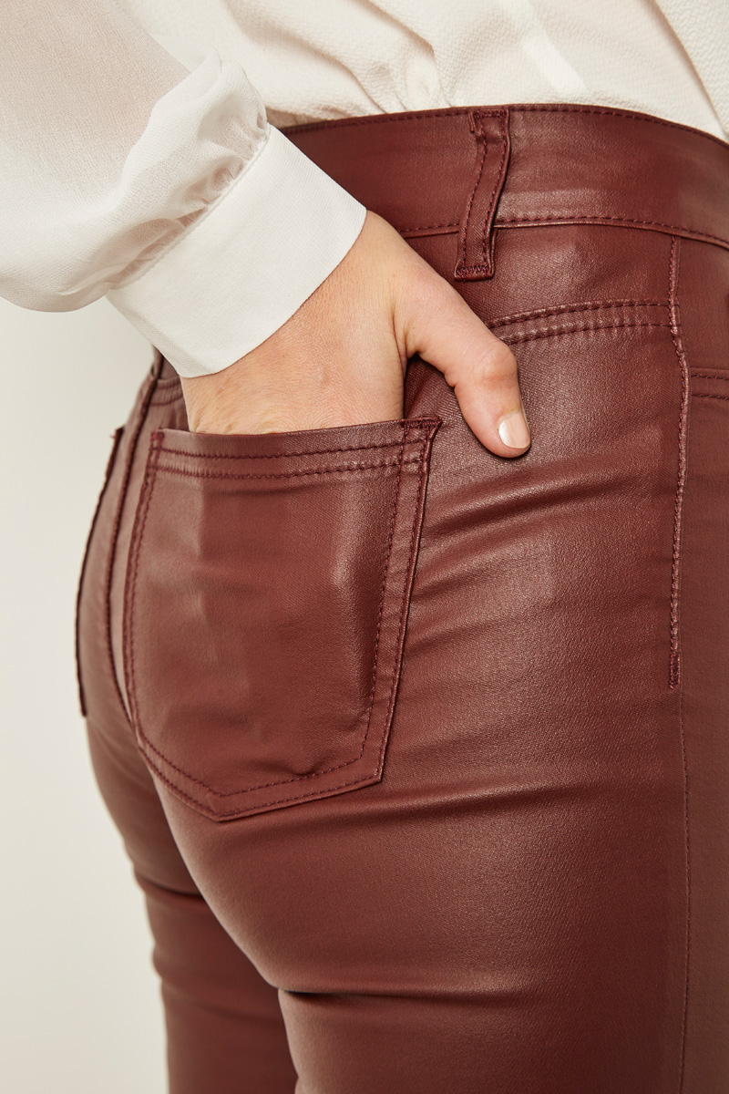 Pantalon skinny bordeaux