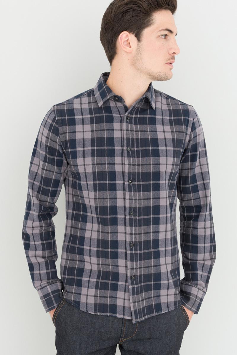 Chemise à carreaux Devred