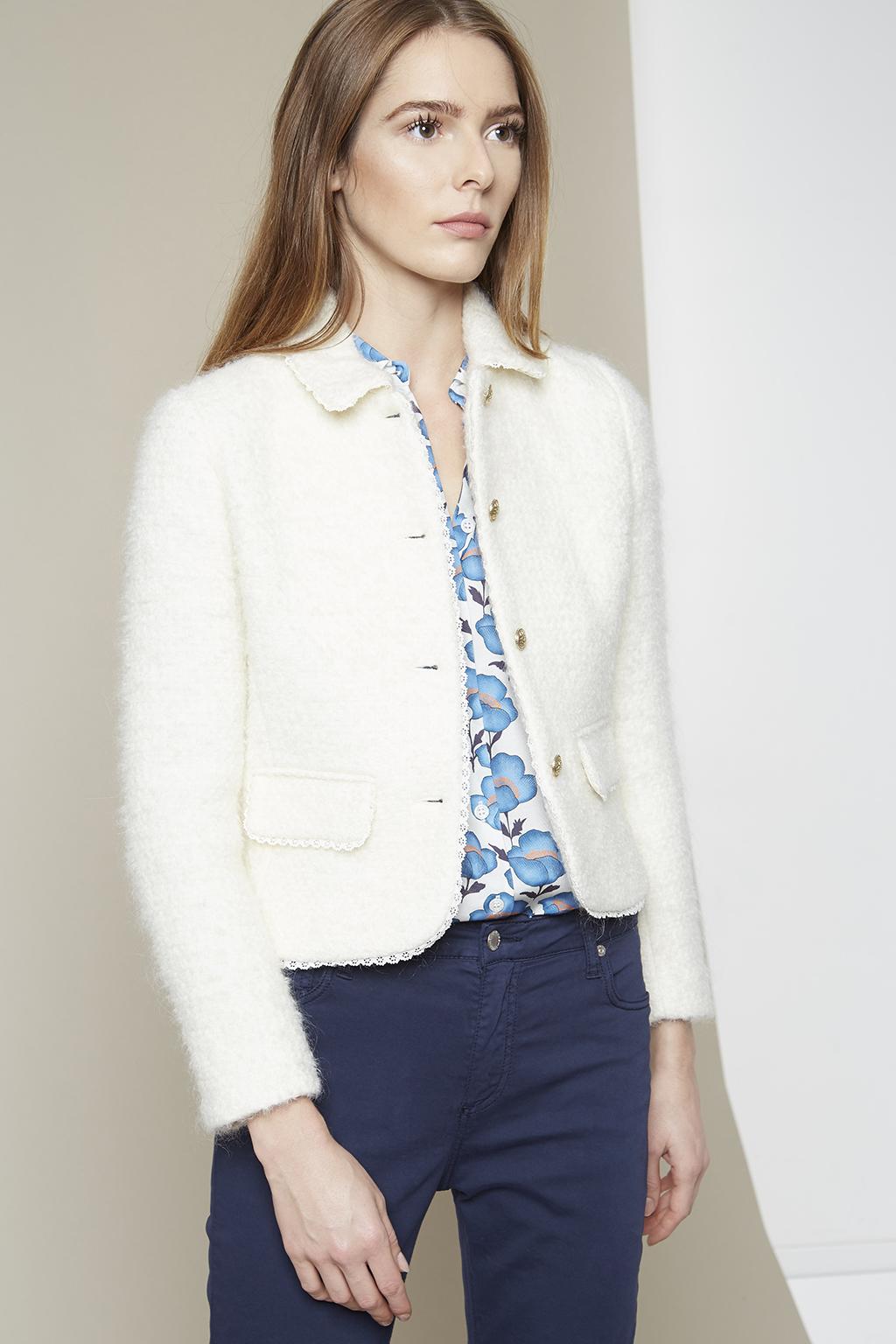 Vente privée Paul and Joe femme manteau blanc en laine