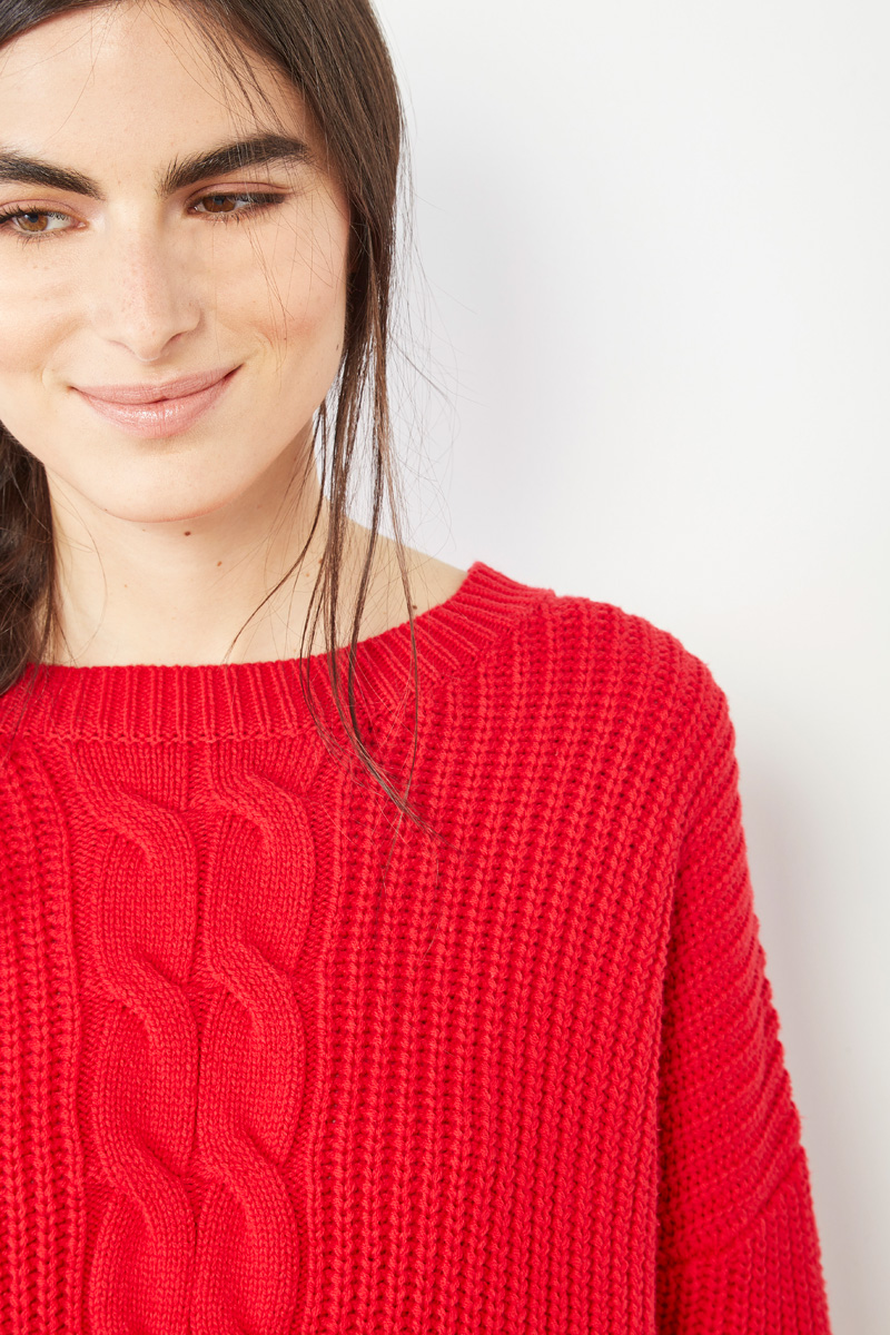 Pull rouge #collectionIRL