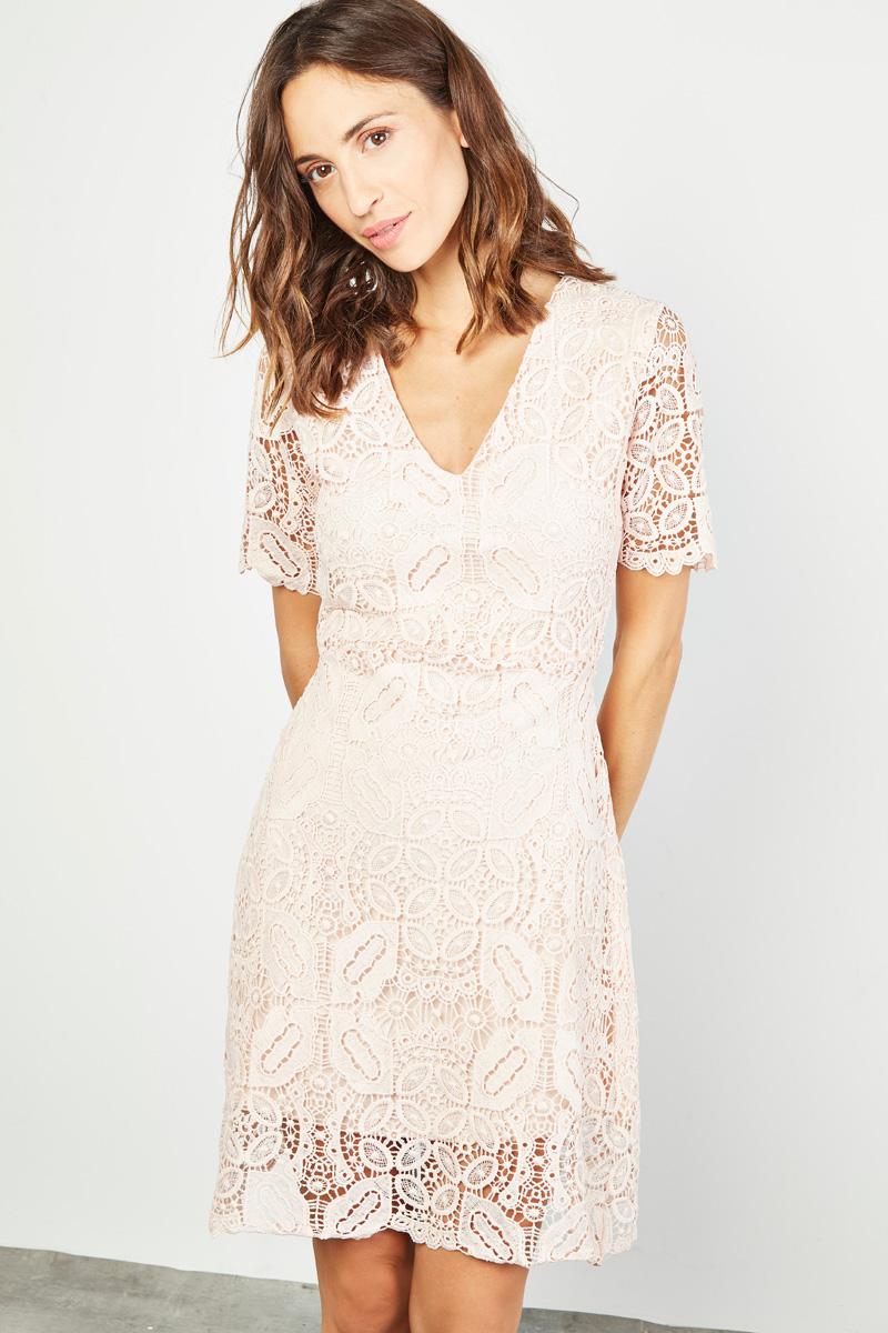 Robe dentelle rose poudrée #collectionIRL