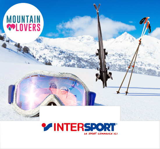 Vente Mountain Lovers équipements ski Intersport