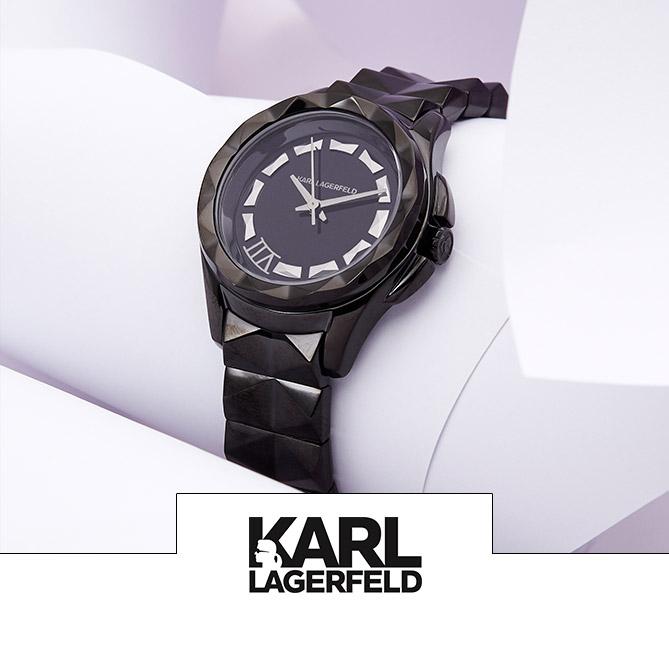 Vente horlogerie montres homme et femme Festival Fossil, Karl Lagerfeld