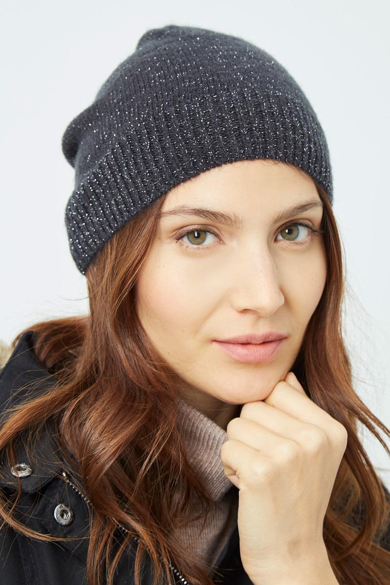 Vente privée Showroomprivé Camaieu accessoires pour femme, bonnet gris à paillettes