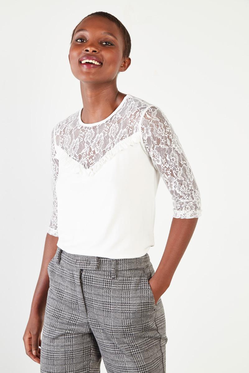 Vêtements pour femmes #collectionIRL sur Showroomprivé, top blanc à dentelle