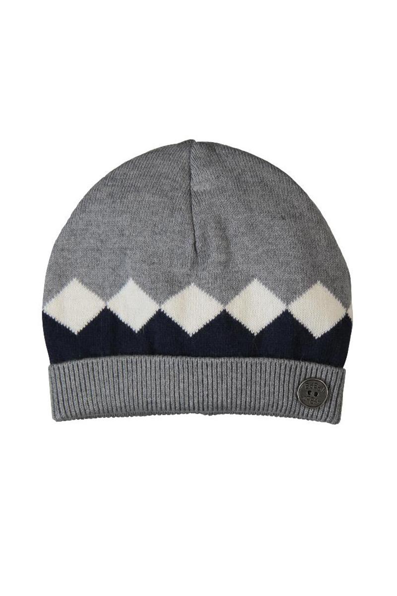Vente privée Boboli Showroomprivé vêtements et accessoires pour garçons et filles, bonnet gris à motifs