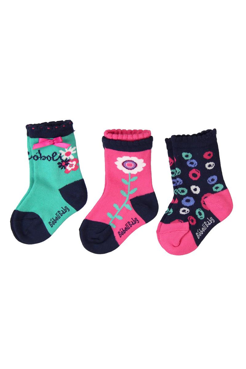 Vente privée Boboli Showroomprivé vêtements et accessoires pour garçons et filles, lot de 3 paires de chaussettes pour fille