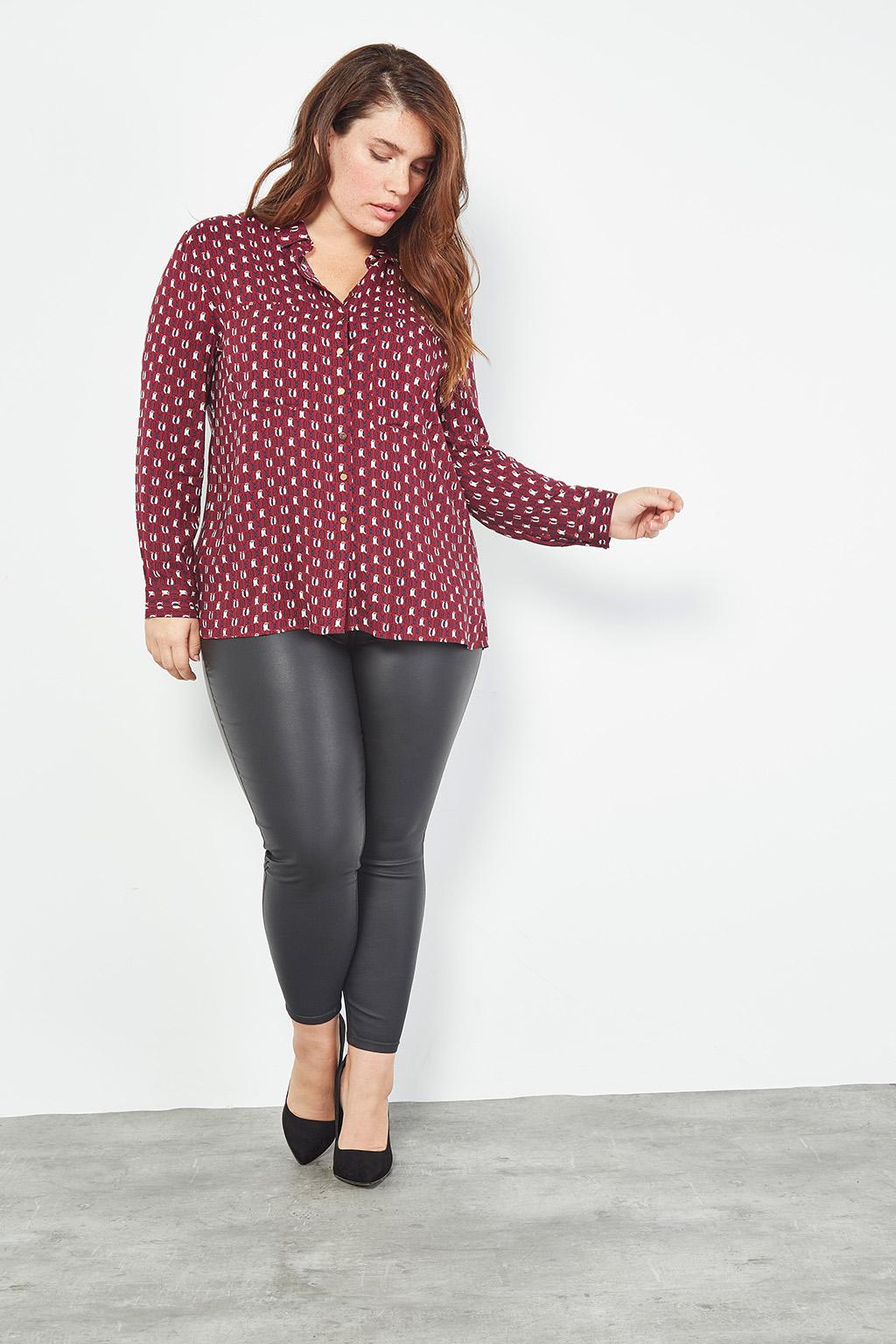 Collection capsule #curveIRL par #collectionIRL disponible sur Showroomprivé, pantalon noir effet enduit pour femme.