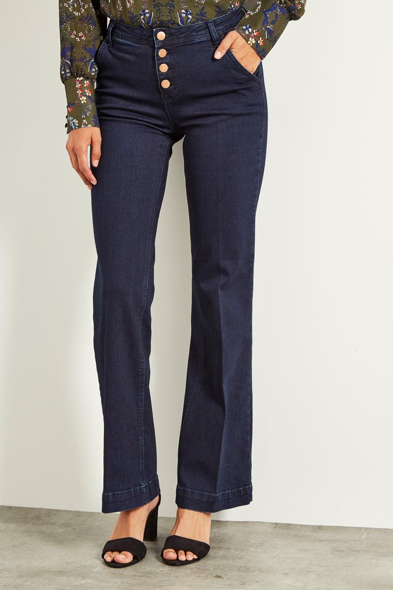 Vêtements pour femmes #collectionIRL sur Showroomprivé, jean flare bleu taille haute