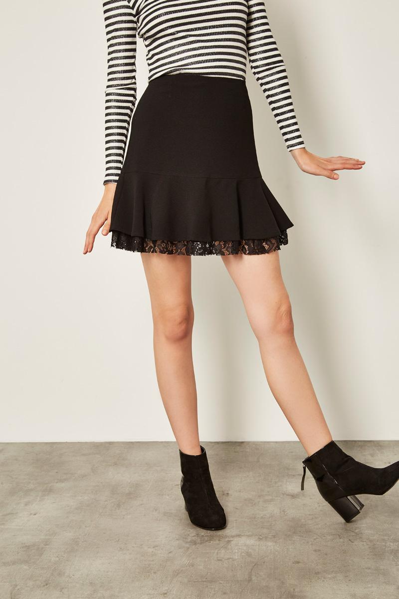 Vêtements pour femmes #collectionIRL sur Showroomprivé, jupe noire et dentelle
