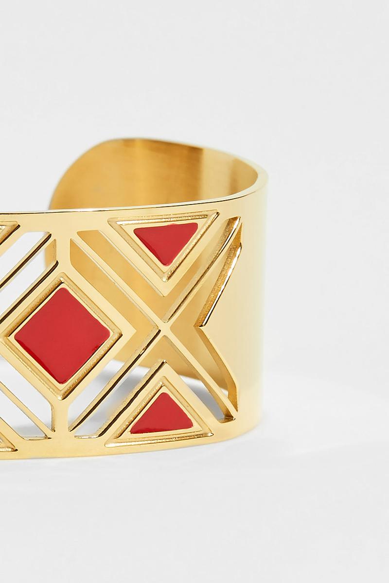 Manchette doré et rouge #collectionIRL
