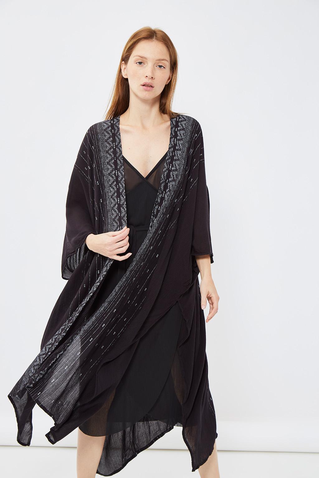 Vente privée femme Oysho lingerie, homewear et sport, gilet de nuit noir