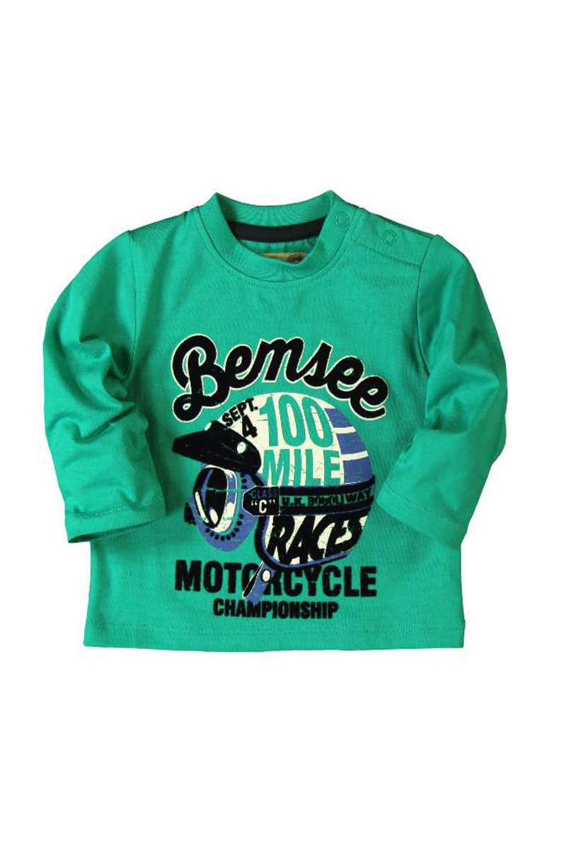 Vente privée Boboli Showroomprivé vêtements et accessoires pour garçons et filles, t-shirt vert à manches longues