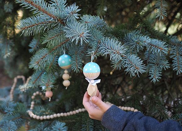 Décoration de Noël Ann-so Les Moustachoux