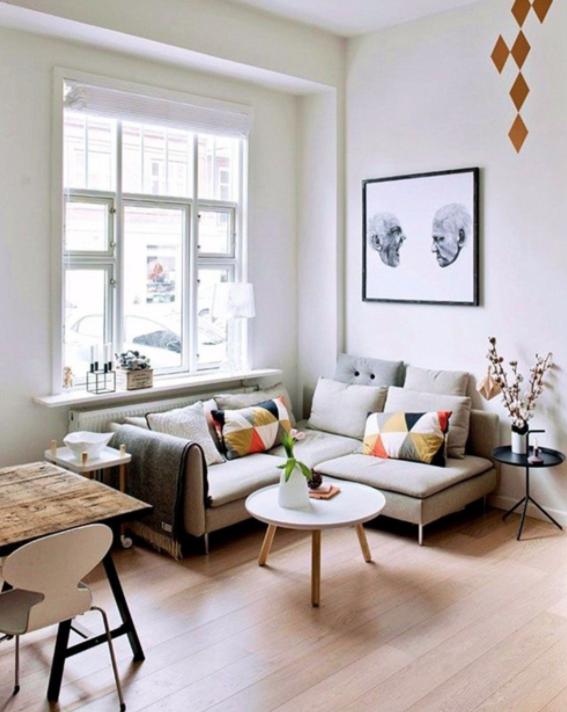 Inpiration imprimé graphique - salon scandinave - Pinterest