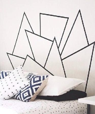 Inpiration imprimé graphique - tête de lit en sticker - Pinterest