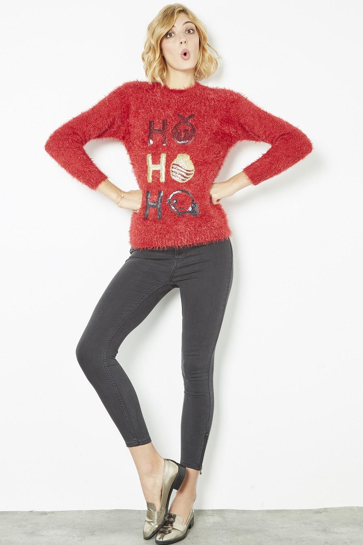 Pulls de Noël rouge noir et blanc #collectionIRL sur Showroomprivé.