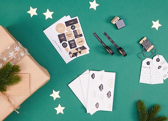 Wrapping Kit pour paquet cadeau de Noël, #collectionIRL sur Showroomprivé.