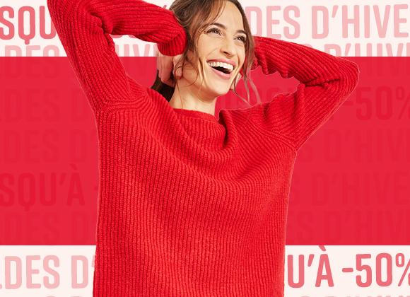 Sélection de vêtements pour femmes rouge #collectionIRL pour les soldes sur Showroomprivé.