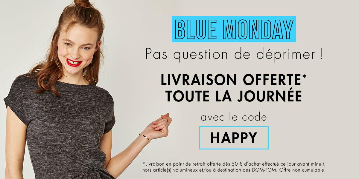 Blue Monday - livraison offerte