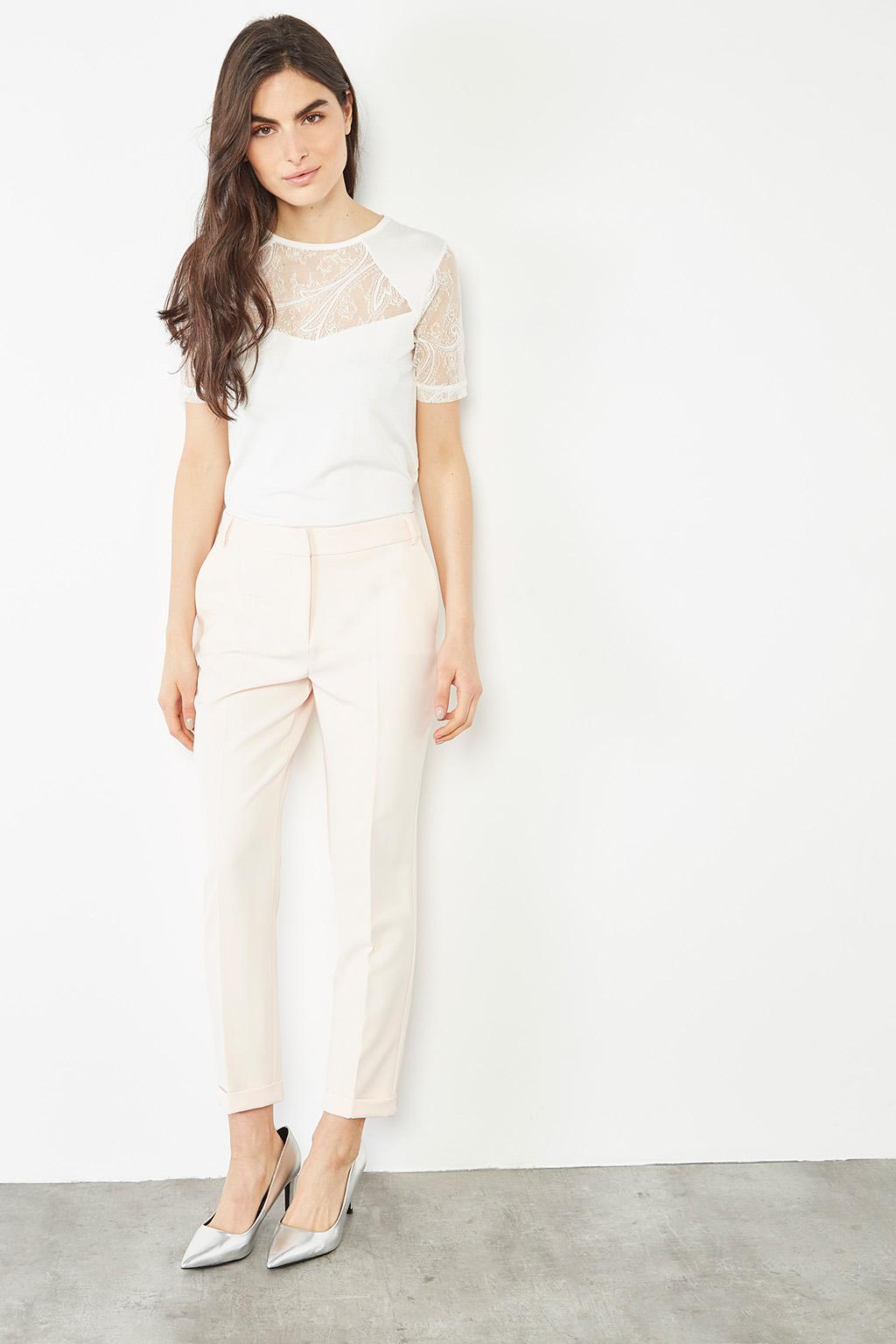 Pantalon à pinces rose poudré #collectionIRL, Showroomprivé