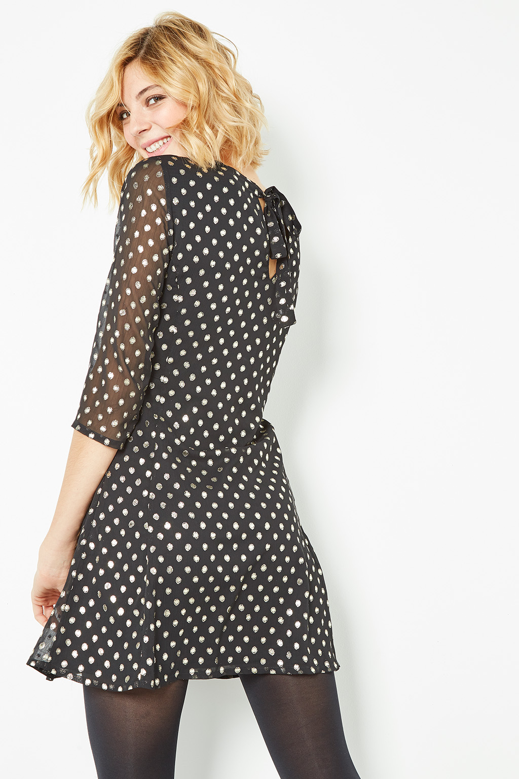 Robe à pois #collectionIRL sur Showroomprivé.