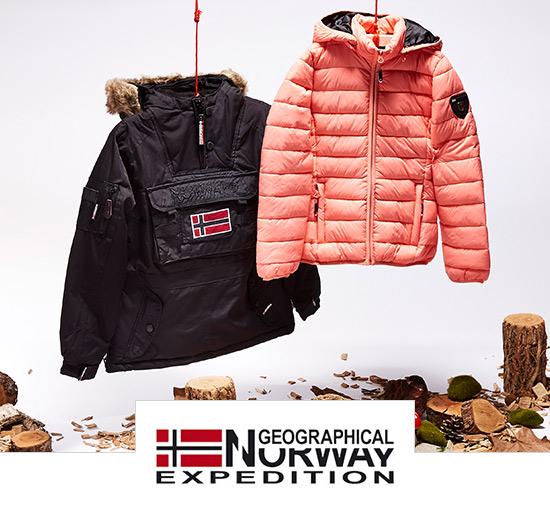 Vente privée de vêtements d'hiver pour hommes et femmes Geographical Norway sur Showromprivé.