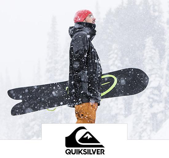 Vente privée de vêtements d'hiver pour hommes et femmes Quiksilver sur Showromprivé.