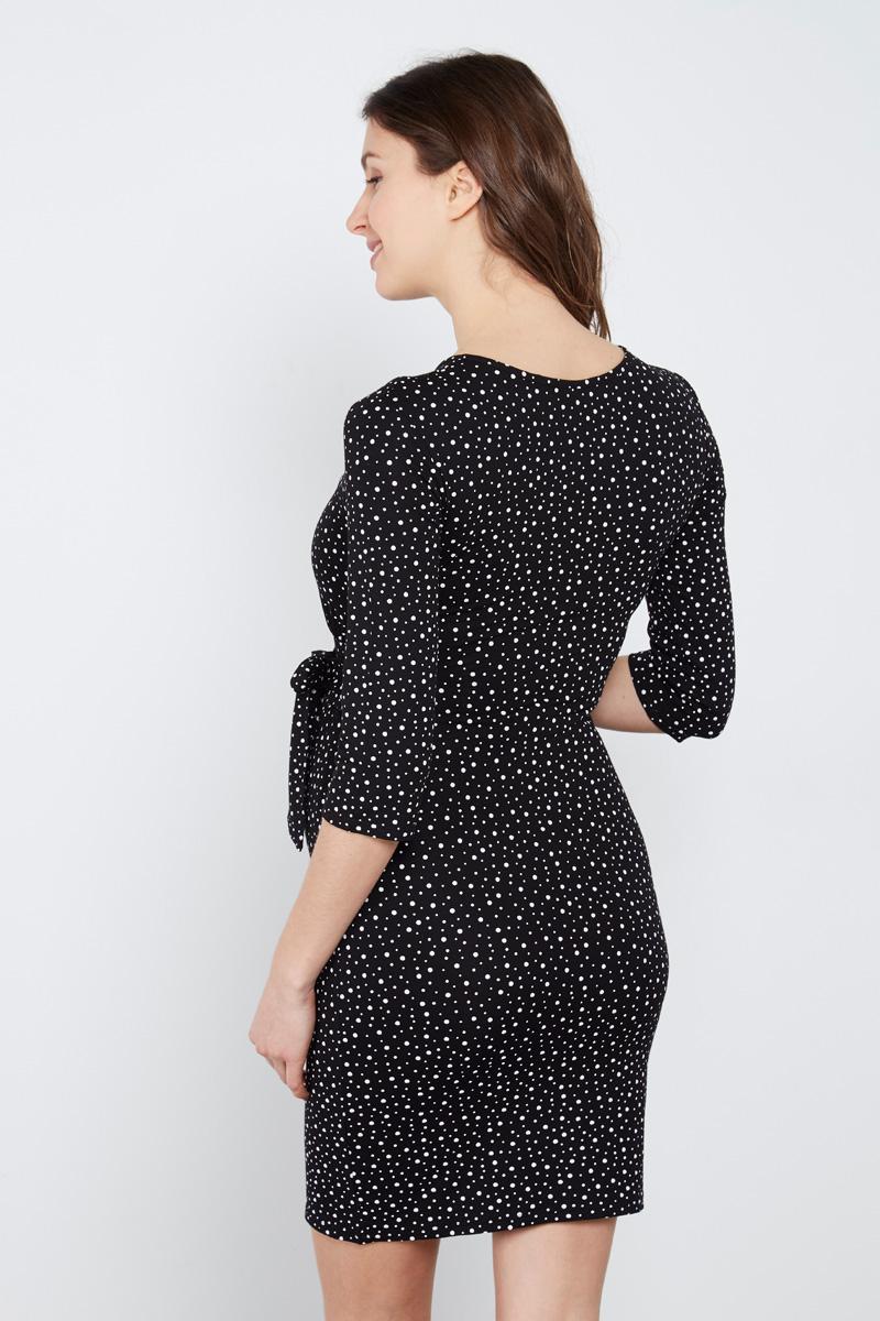 Robe noire à pois #maternityIRL sur Showroomprivé.