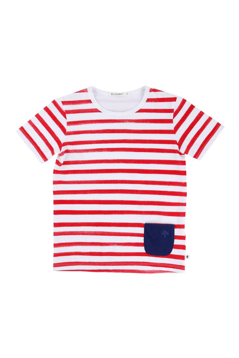 Vente privée Billybandit : t-shirt rouge et blanc
