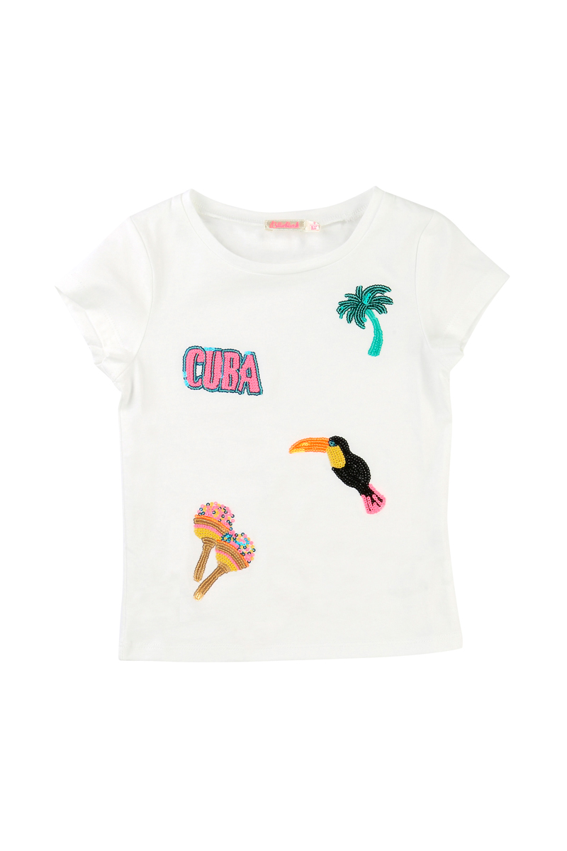 Vente privée Billieblush : t-shirt blanc