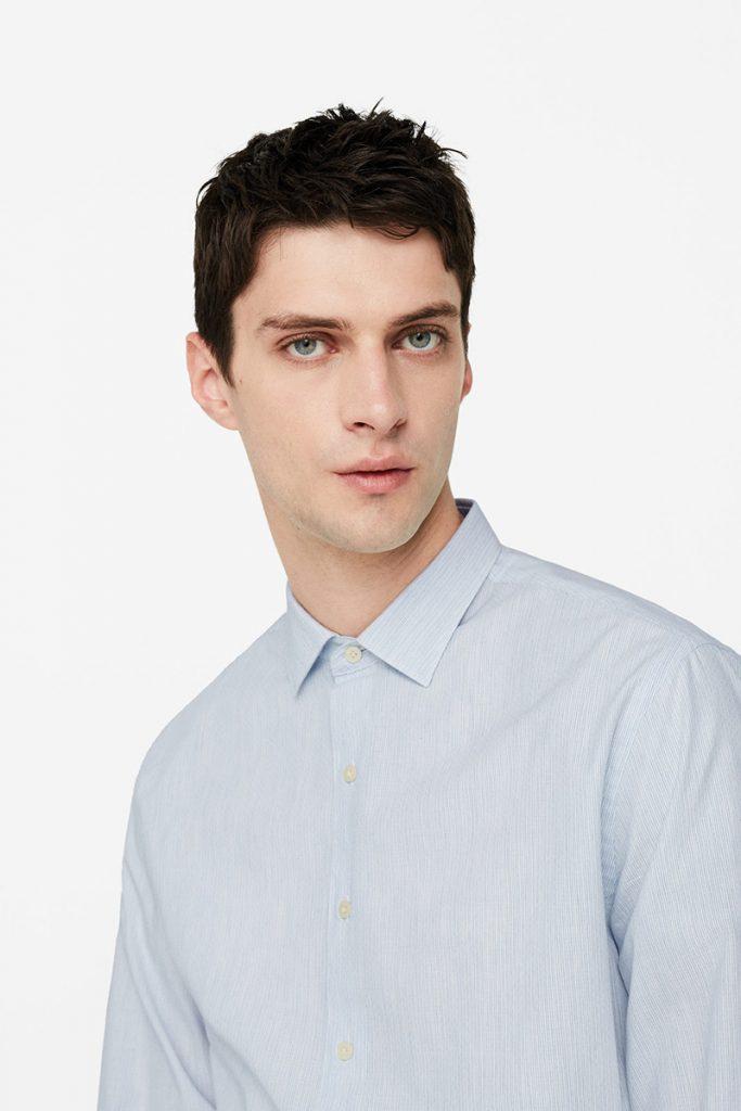 Vente privée Mango Man : chemise bleue