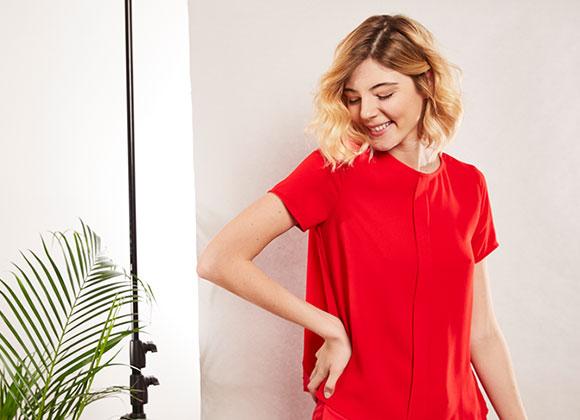 Comment porter le rouge ? Pièces #collectionIRL.