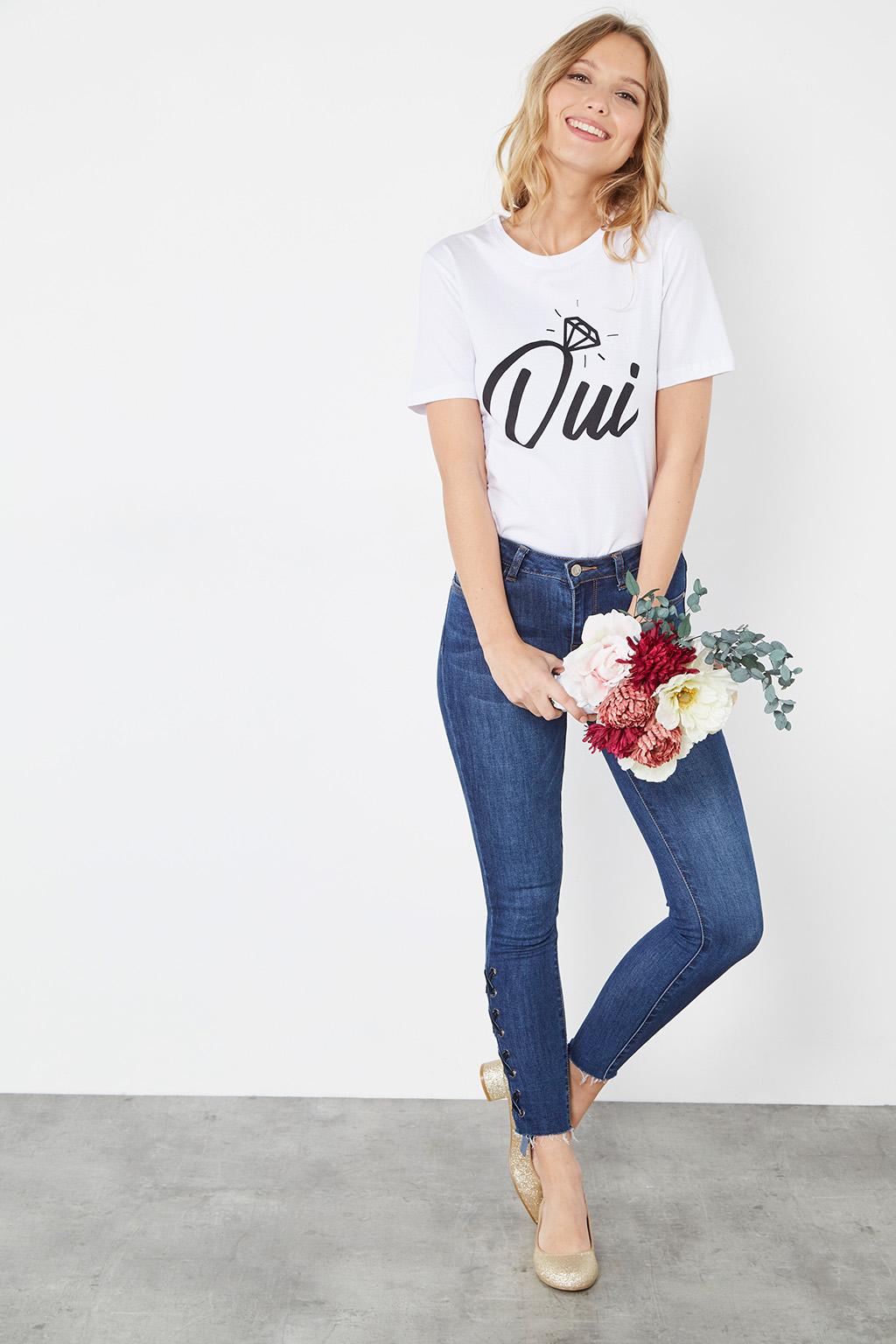 """T-shirt """"Oui"""" par #collectionIRL pour la saison des mariages sur Showroomprivé."""