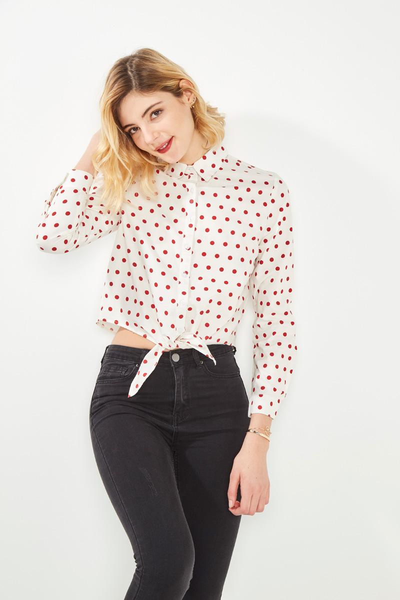 Chemise à pois #collectionIRL sur Showroomprivé.